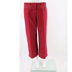 Sitwell Anthropologie Stretch Wide Leg Crop Pants